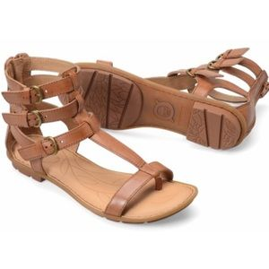 Perfect Born Marcia Brown Gladiator Ankle Sandals